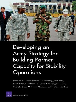 cover image of Developing an Army Strategy for Building Partner Capacity for Stability Operations