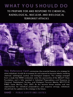 cover image of Individual Preparedness and Response to Chemical, Radiological, Nuclear, and Biological Terrorist Attacks