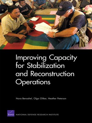 cover image of Improving Capacity for Stabilization and Reconstruction Operations