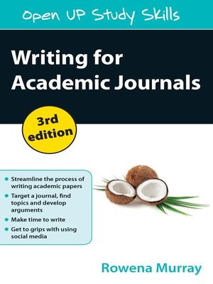 cover image of Writing for Academic Journals