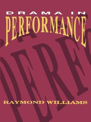 cover image of Drama in Performance