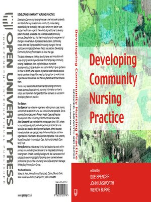 cover image of Developing Community Nursing Practice