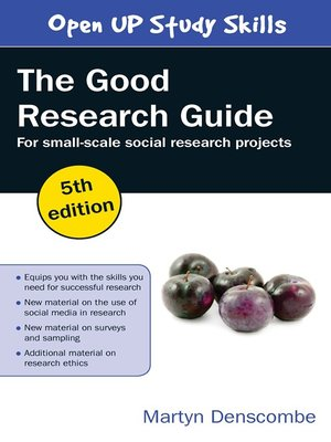 cover image of The Good Research Guide