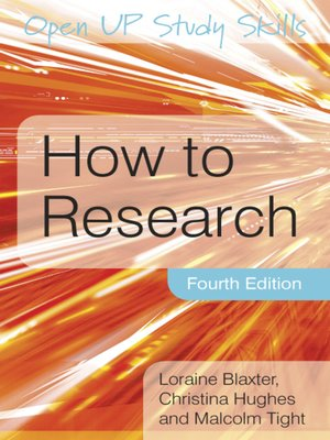 cover image of How to Research