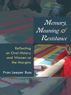 cover image of Memory, Meaning, and Resistance