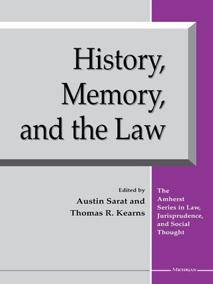 cover image of History, Memory, and the Law