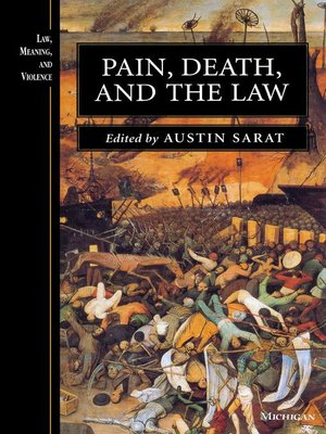 cover image of Pain, Death, and the Law