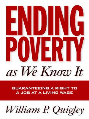 cover image of Ending Poverty As We Know It