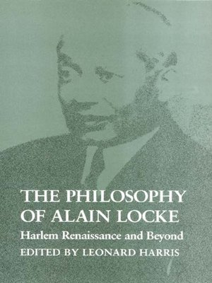 cover image of The Philosophy of Alain Locke
