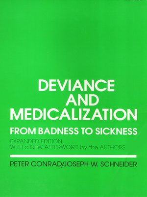 cover image of Deviance and Medicalization