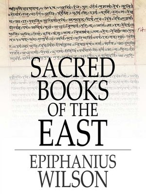 cover image of Sacred Books of the East