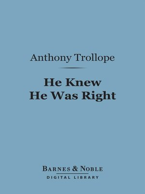 cover image of He Knew He Was Right