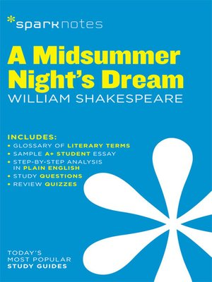 cover image of A Midsummer Night's Dream: SparkNotes Literature Guide