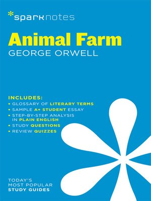 cover image of Animal Farm: SparkNotes Literature Guide