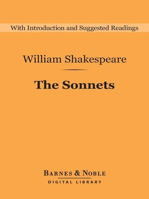 cover image of The Sonnets