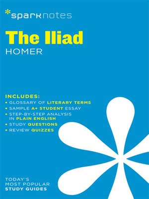 cover image of The Iliad: SparkNotes Literature Guide