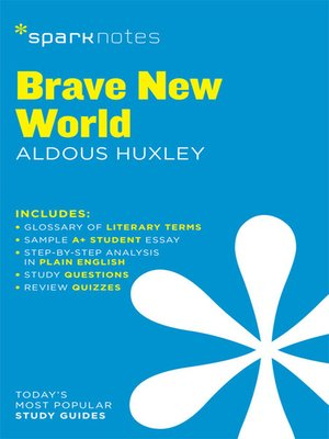 cover image of Brave New World SparkNotes Literature Guide