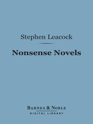 cover image of Nonsense Novels