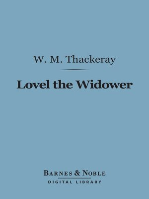 cover image of Lovel the Widower