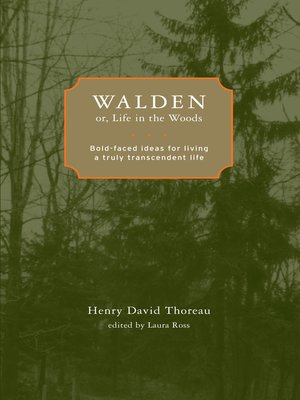 cover image of Walden; or, Life in the Woods