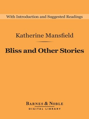cover image of Bliss and Other Stories