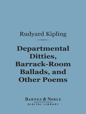 cover image of Departmental Ditties, Barrack-Room Ballads and Other Poems