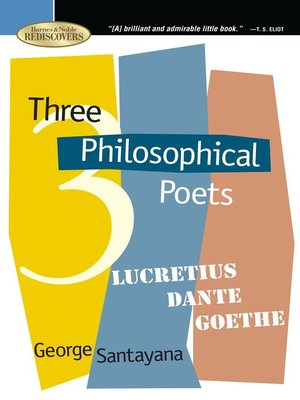 cover image of Three Philosophical Poets