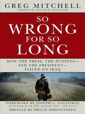 cover image of So Wrong for So Long