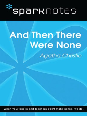cover image of And Then There Were None: SparkNotes Literature Guide