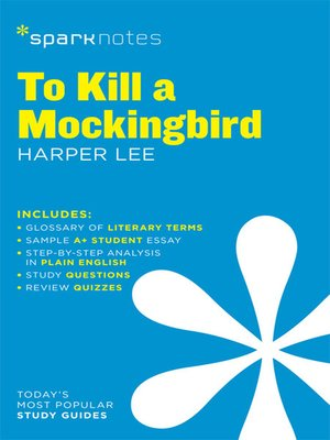 cover image of To Kill a Mockingbird: SparkNotes Literature Guide