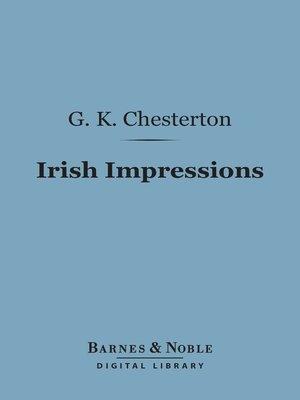 cover image of Irish Impressions