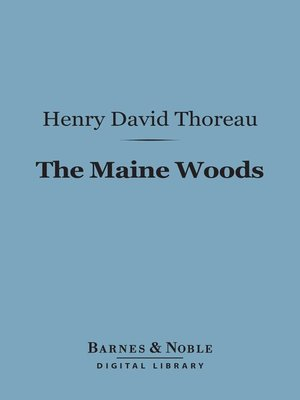 cover image of The Maine Woods