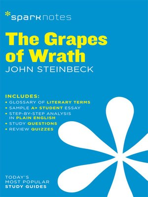 cover image of The Grapes of Wrath: SparkNotes Literature Guide
