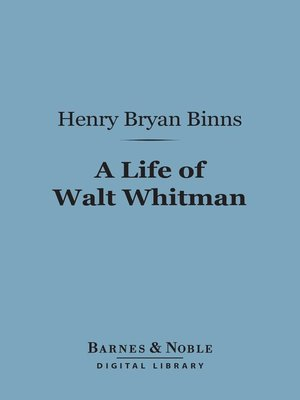 cover image of A Life of Walt Whitman