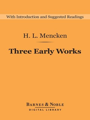 cover image of Three Early Works