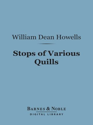 cover image of Stops of Various Quills