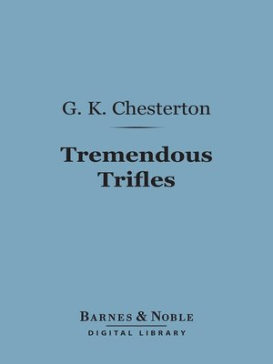 cover image of Tremendous Trifles