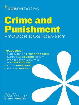 cover image of Crime and Punishment: SparkNotes Literature Guide