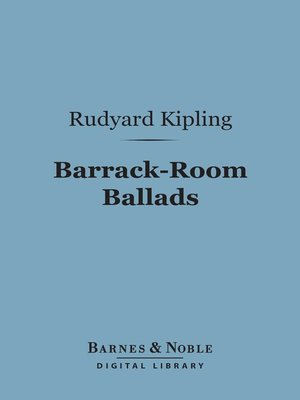 cover image of Barrack-Room Ballads