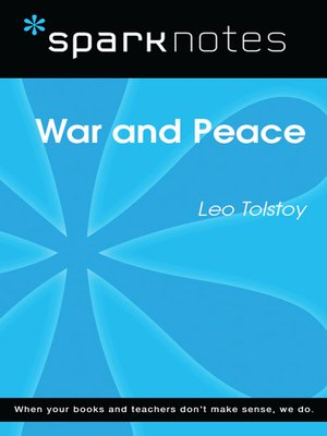 cover image of War and Peace (SparkNotes Literature Guide)