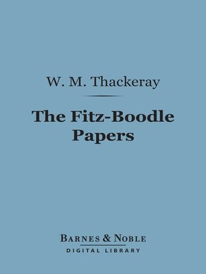 cover image of The Fitz-Boodle Papers