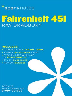 cover image of Fahrenheit 451: SparkNotes Literature Guide
