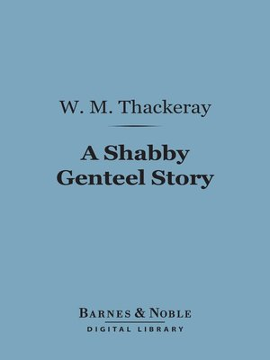 cover image of A Shabby Genteel Story