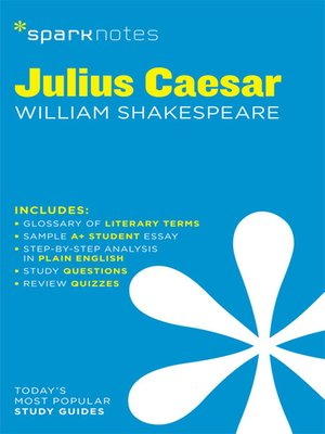 cover image of Julius Caesar: SparkNotes Literature Guide