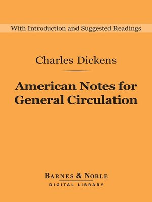 cover image of American Notes for General Circulation