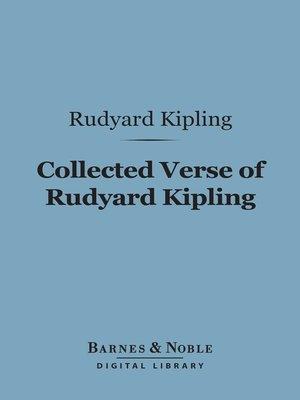 cover image of Collected Verse of Rudyard Kipling