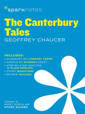 cover image of The Canterbury Tales: SparkNotes Literature Guide