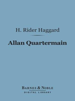 cover image of Allan Quartermain