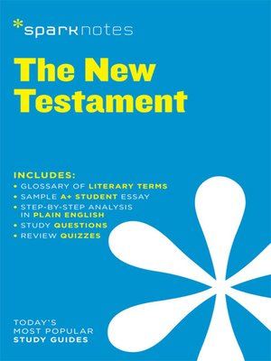 cover image of New Testament: SparkNotes Literature Guide