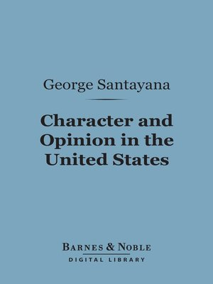cover image of Character and Opinion in the United States